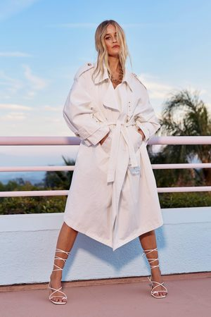 NASTY GAL Womens Don't Sugar Coat It Belted Trench Coat - - 12