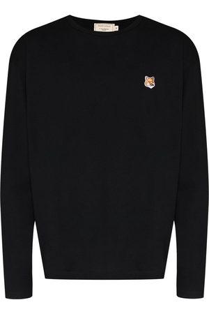 Maison Kitsuné Men Long Sleeve - Logo-patch long-sleeve T-shirt