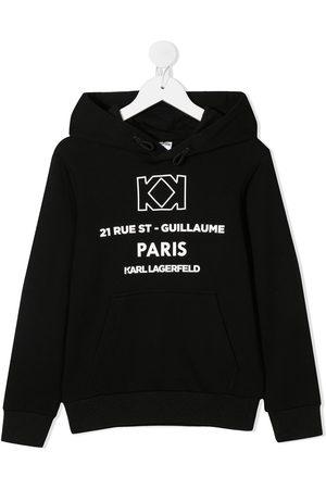 Karl Lagerfeld Logo print drawstring hood