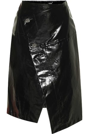 Marni Women Leather Skirts - Patent faux leather midi skirt