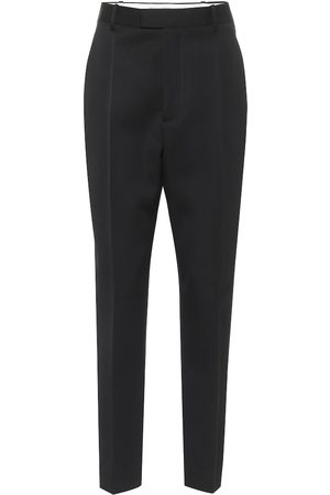 Bottega Veneta High-rise wool slim pants
