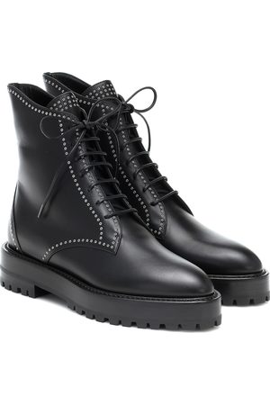Alaïa Women Lace-up Boots - Lace-up leather ankle boots