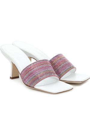 By Far Dylan embellished leather sandals
