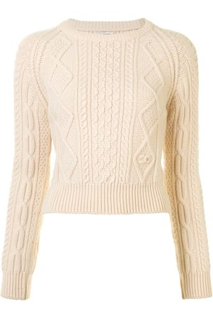 CHANEL Cable-knit wool jumper - Neutrals