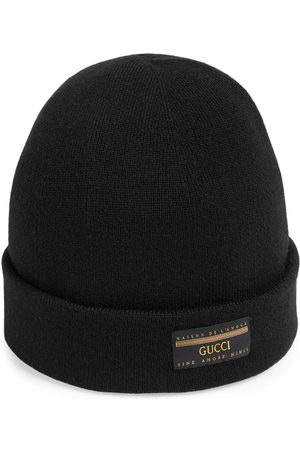 Gucci Men Hats - Wool hat with label