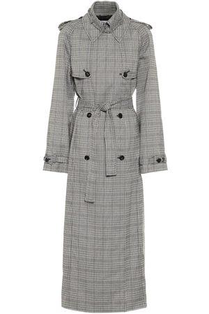 GABRIELA HEARST Lorna checked wool trench coat