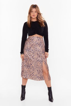 NASTY GAL Womens Into the Wild Plus Leopard Skirt - - 16