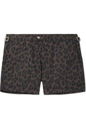 Tom Ford Slim-Fit Short-Length Leopard-Print Swim Shorts