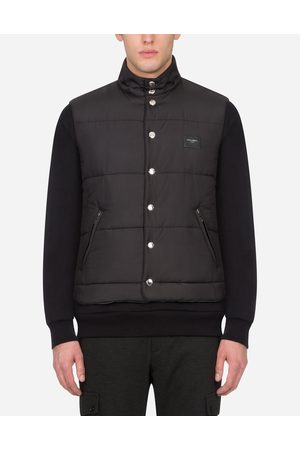 Dolce & Gabbana Jackets and Bombers - NYLON VEST WITH BRANDED PLATE