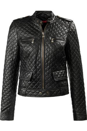 Laura Biagiotti Roma Lambskin nappa leather jacket elbow patches size: 8