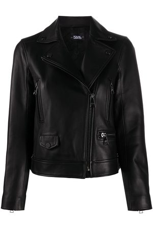 Karl Lagerfeld Off-centre zipped biker jacket