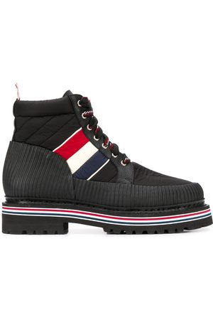 Thom Browne Men Boots - All terrain tricolour stripe ankle boots - 001