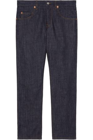 Gucci Men Trousers - Washed denim tapered pant