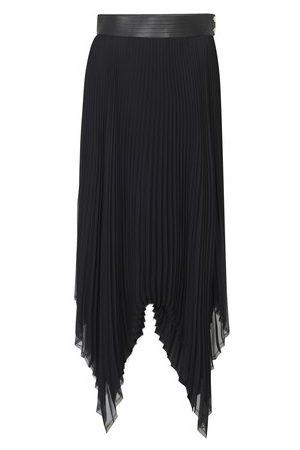 Loewe Pleated skirt leather trim