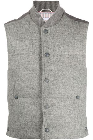 Thom Browne Snap-button padded Shetland wool gilet