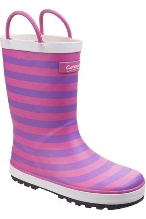 Cotswold Outdoor Girls Stripe Wellington Boots