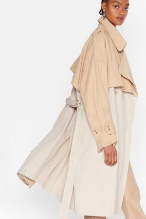 NASTY GAL Womens Back to Mac Oversized Trench Coat - - 4