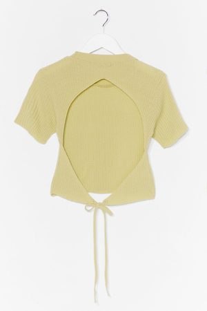 NASTY GAL Womens Eyes Wide Open Ribbed Top - - 10