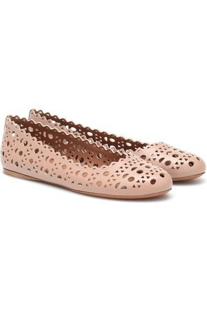 Alaïa Laser-cut leather ballet flats