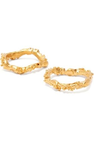 Alighieri The Unreal City Set Of Two 24kt -plated Rings - Womens