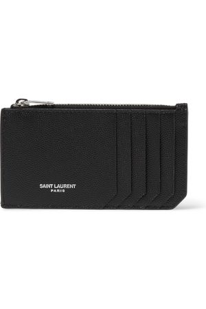 adidas Men Purses & Wallets - Pebble-Grain Leather Cardholder