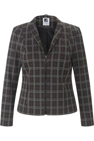 Anna Aura Jersey blazer in check jacquard multicoloured size: 14