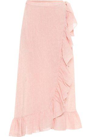 Lisa Marie Fernandez Linen-blend midi skirt