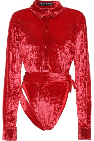 Y / PROJECT Stretch-velvet bodysuit