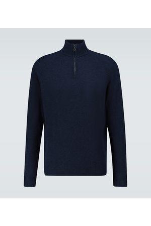 DEREK ROSE Men Turtlenecks - Cashmere half-zipped sweater