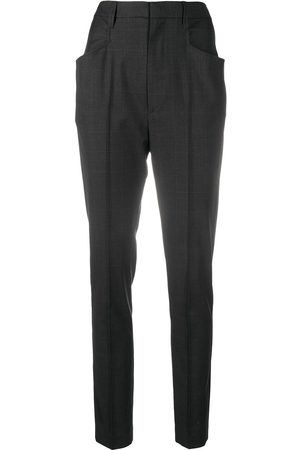Isabel Marant Check-print tapered trousers