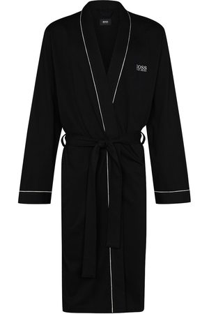 BOSS Logo embroidered dressing gown