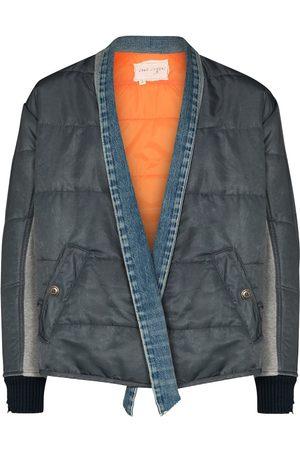 GREG LAUREN Padded wrap-front bomber jacket