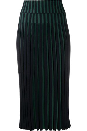 Kenzo Pleated two-tone skirt