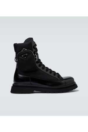 Prada Combat boots with pouch