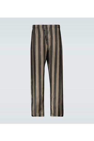Fendi Striped silk pants