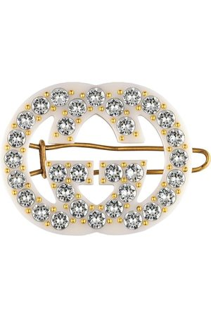 Gucci Crystal-embellished interlocking G hair slide