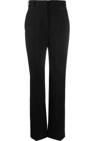 Prada Logo-patch wide-leg trousers