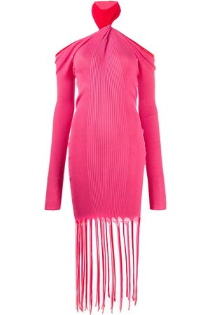 Bottega Veneta Twisted-neck ribbed-knit dress