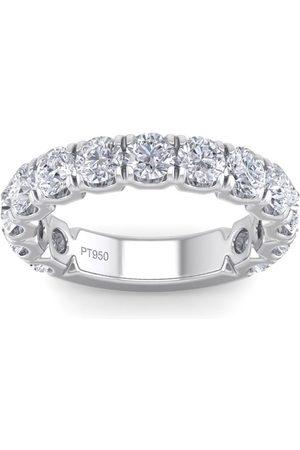 SuperJeweler 2.5 Carat Round Shape Diamond Wedding Band in Platinum (I-J, I1-I2), Size 4