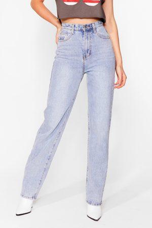 NASTY GAL Women High Waisted - Womens Like Straight Away High-Waisted Jeans - - 6