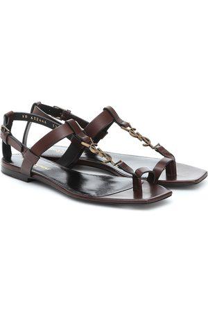 Saint Laurent Cassandra leather sandals