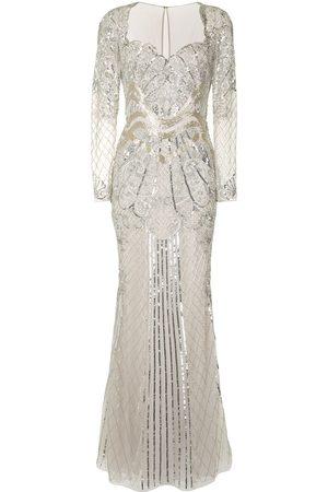 Zuhair Murad Women Evening Dresses - Sequin-embellished fishtail gown