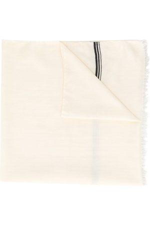 Yves Saint Laurent Frayed logo scarf