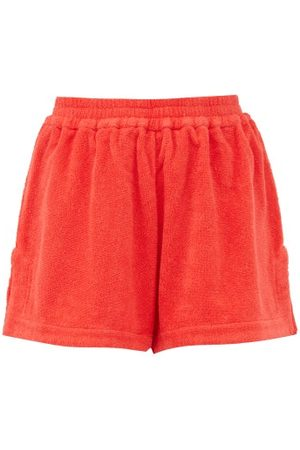 TERRY Estate High-rise Cotton- Shorts - Womens