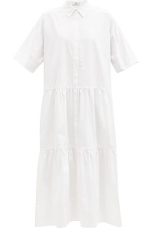 CO Tiered tton-sateen Midi Shirt Dress - Womens