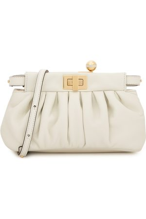 Fendi Peekaboo Click Leather Clutch