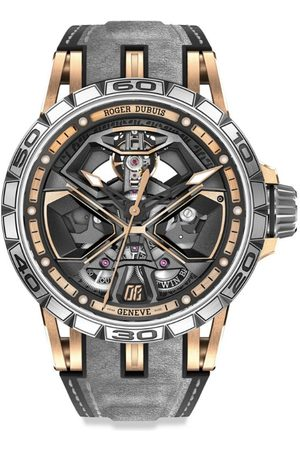 ROGER DUBUIS Men Watches - Rose Gold Excalibur Spider Huracán Watch 45mm