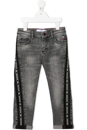 Philipp Plein Boys Straight - Iconic Plein straight-leg jeans