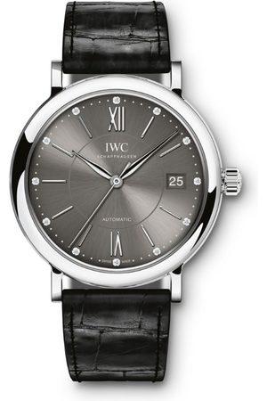 IWC SCHAFFHAUSEN Stainless Steel and Diamond Portofino Automatic Watch 37mm
