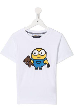 MOSTLY HEARD RARELY SEEN X Minions Mini-me Mini Bob 8-Bit appliqué T-Shirt